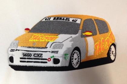 bordado coche rally