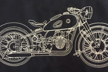 bordados mallorca, bordado moto